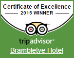 Brambletye Hotel rated excellent on Trip Advisor
